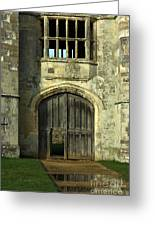 Imposing Front Door Of Titchfield Abbey Greeting Card by Terri  Waters