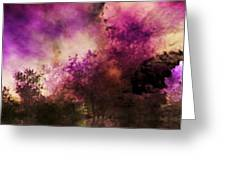 Impressionism Style Landscape Greeting Card by Maggie Vlazny
