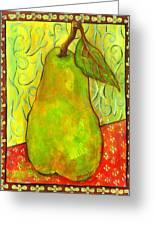 Impressionist Style Pear Greeting Card by Blenda Studio