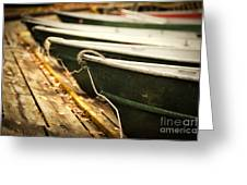 In A Line Greeting Card by Todd Bielby