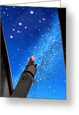 In Awe Of Andromeda And The Milky Way Greeting Card by Kathleen Horner