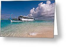 In Harmony With Nature. Maldives Greeting Card by Jenny Rainbow