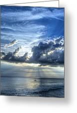In Heaven's Light - Beach Ocean Art By Sharon Cummings Greeting Card by Sharon Cummings