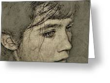 In her own world Greeting Card by Gun Legler