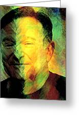 In Memory Of Robin Williams Greeting Card by Ally  White