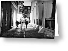 In Pirates Alley Greeting Card by John Rizzuto