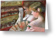 In The Box Greeting Card by Mary Stevenson Cassatt