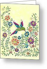 In The Garden - Hummer Greeting Card by Susie WEBER