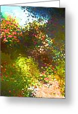 In The Garden Greeting Card by Pamela Cooper