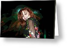 In The Groove Greeting Card by Ellen Henneke