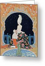 In The Grotto Greeting Card by Georges Barbier