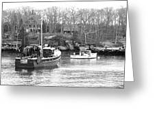 In The Harbor Greeting Card by Becca Brann