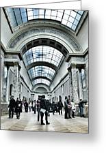 In The Louvre  Greeting Card by Marianna Mills