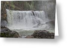 In The Mist Greeting Card by Loree Johnson