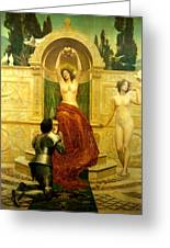 In The Venusberg Tannhauser Greeting Card by John Collier