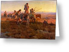 In The Wake Of The Buffalo Hunters Greeting Card by Charles Russell