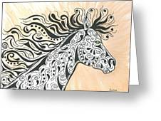 In The Wind Greeting Card by Susie WEBER