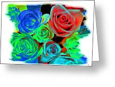 Incandescent Roses Greeting Card by Will Borden