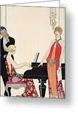 Incantation Greeting Card by Georges Barbier