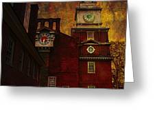 Independence Hall Philadelphia let freedom ring Greeting Card by Jeff Burgess