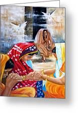 India Rising -- The Found Greeting Card by Carol Allen Anfinsen
