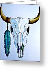 Indian Buffalo Greeting Card by Kyle  Brock