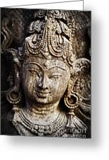 Indian Goddess Greeting Card by Tim Gainey