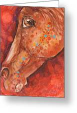 Indian Pony Greeting Card by Mary Armstrong