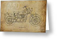 Indian Warrior Tt 1950 Greeting Card by Pablo Franchi