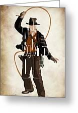 Indiana Jones Vol 2 - Harrison Ford Greeting Card by Ayse Deniz