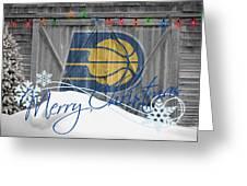 Indiana Pacers Greeting Card by Joe Hamilton