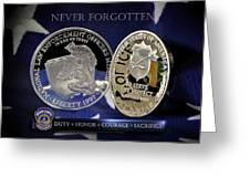 Indianapolis Metro Police Memorial Greeting Card by Gary Yost