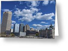 Indianapolis Skyline Low Greeting Card by David Haskett
