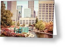 Indianapolis Skyline Old Retro Picture Greeting Card by Paul Velgos