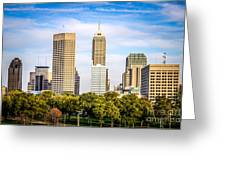 Indianapolis Skyline Picture Greeting Card by Paul Velgos