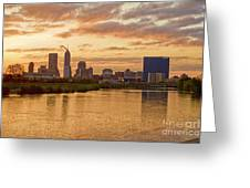Indianapolis Sunrise Greeting Card by David Haskett