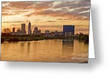 Indianapolis Sunrise Greeting Card by David Haskett