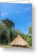 Indigenous Hut Greeting Card by Jess Kraft