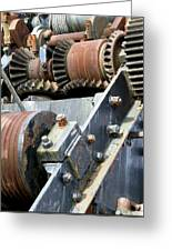 Industrial Cogs And Pulley Wheels Greeting Card by Science Photo Library