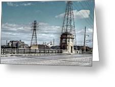 Industrial Detroit Greeting Card by MJ Olsen
