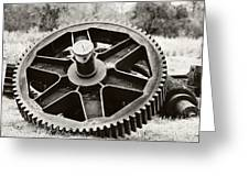 Industrial Gear Greeting Card by Scott Pellegrin