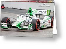 Indy Car Greeting Card by Simon Jones