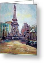 Indy Circle Back-lit Greeting Card by Donna Shortt