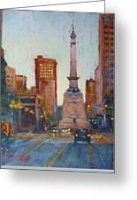 Indy Circle- Twilight Greeting Card by Donna Shortt