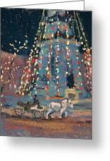 Indy Monument Lights Greeting Card by Donna Shortt