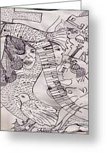 Ink Art To Color 3 Greeting Card by Lois Picasso