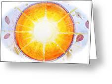 Inner Light Greeting Card by Moira Rowe