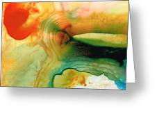 Inner Strength - Abstract Painting By Sharon Cummings Greeting Card by Sharon Cummings