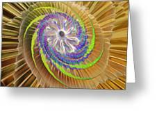 Inner Twister Greeting Card by Deborah Benoit