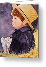 Innocence Greeting Card by John W Walker